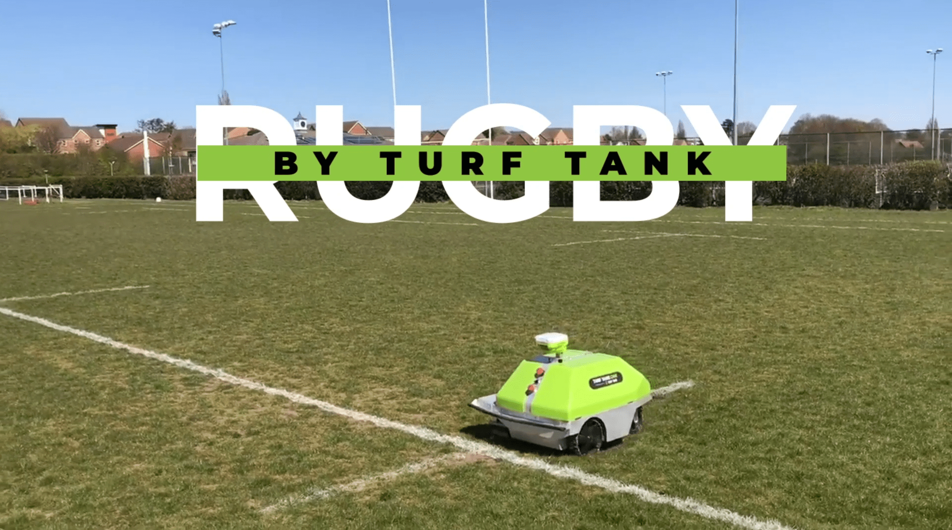 Turf Tank Robot for Rugby pitch marking